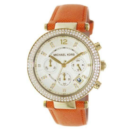 Michael Kors Parker MK2279 Orange Leather Watch